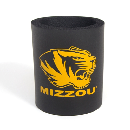 Mizzou Tiger Head Black Can Holder