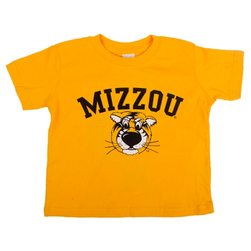 Mizzou Toddler Truman Gold Crew Neck T-Shirt
