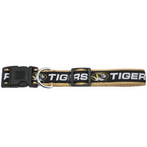 Mizzou Tigers Black & Gold Pet Collar
