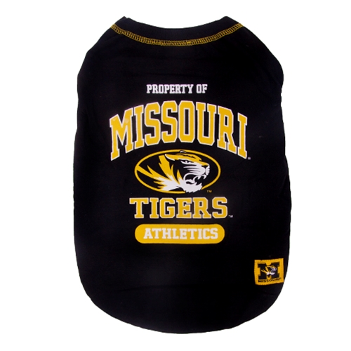 new style 7ed8e 2710b Property of Missouri Tigers Black Pet T-Shirt
