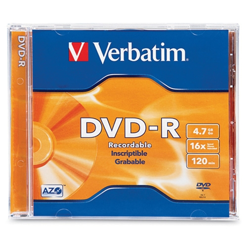 Verbatim 16x 4.7GB DVD-R in Jewel Case