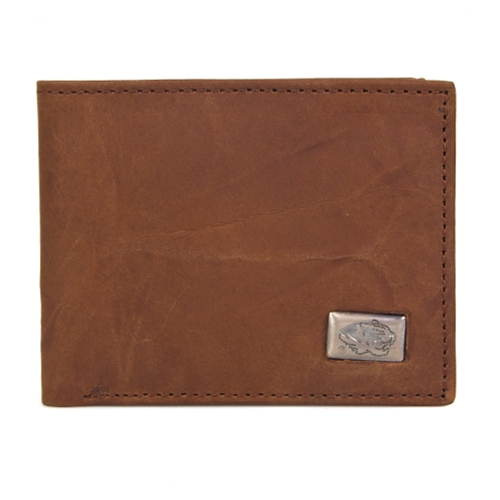 Mizzou Brown Leather Bi-Fold Wallet