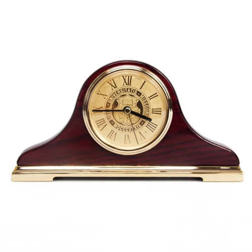 Mizzou Official Seal Napoleon II Mantel Clock