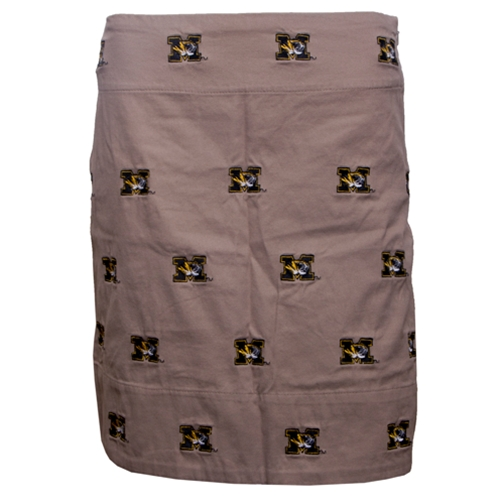 Mizzou Women's Tiger Head Tan Skirt