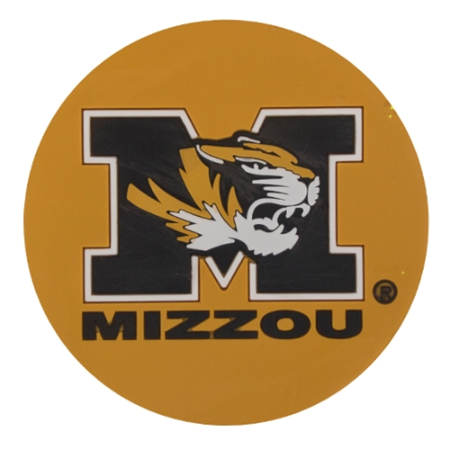 Mizzou Tiger Head Black & Gold Coaster Set
