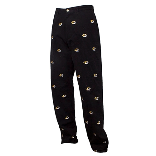 Mizzou Tiger Head Black Dress Pants
