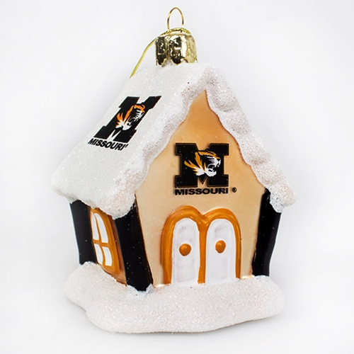 Missouri Tiger Head Gingerbread House Ornament