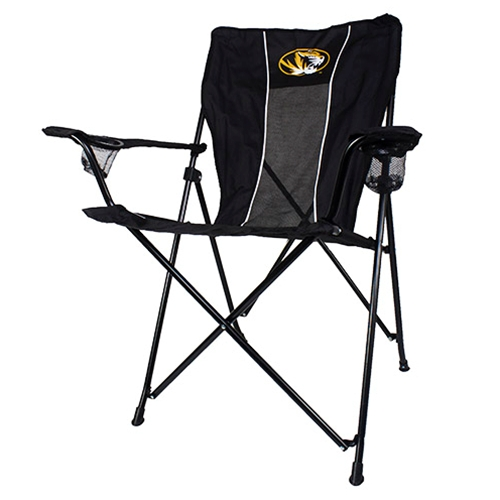 Mizzou Oval Tiger Head Black Tailgate Chair
