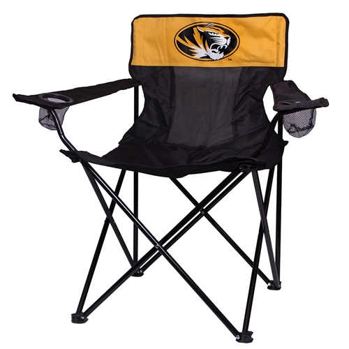 Mizzou Tiger Head Black & Gold Tailgate Chair