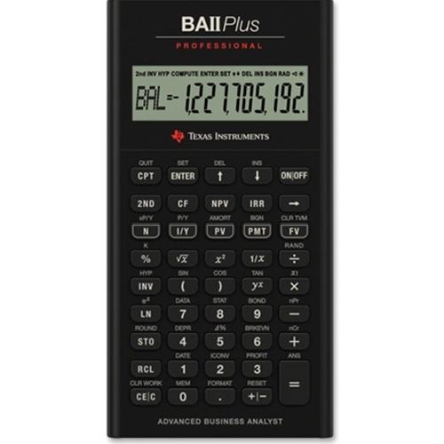 The Mizzou Store  Texas Instruments Ba Ii Plus Pro Financial Calculator