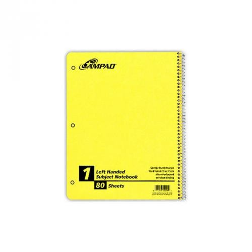 1-Subject Left Handed Notebook