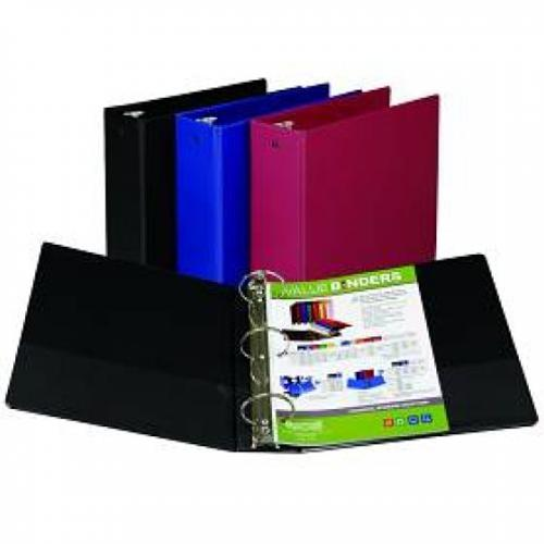 "Assorted Colors 3"" Round Ring Binder"
