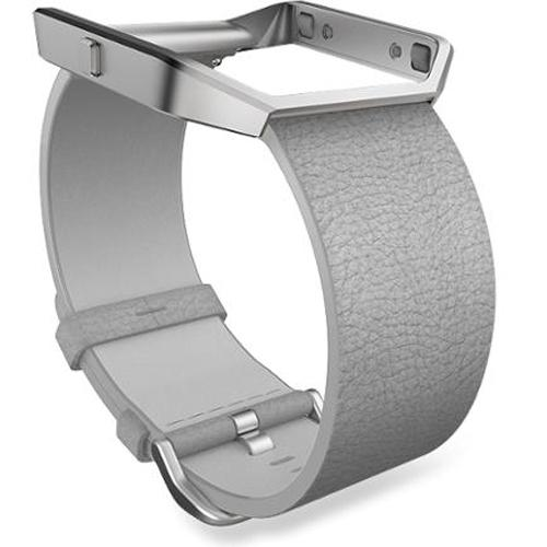 Fitbit Blaze Mist Grey Leather Large Accessory Band