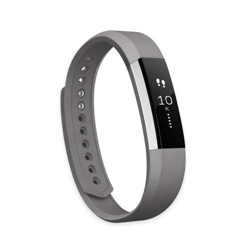 Fitbit Alta Leather Replacement Band, Graphite Large