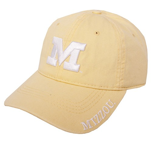 Mizzou Juniors' Yellow Adjustable Hat