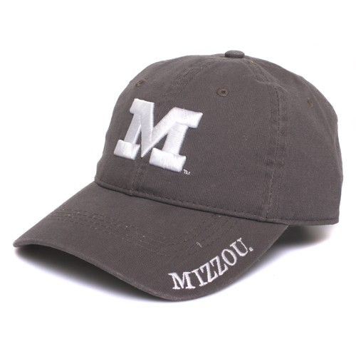 Mizzou Juniors' Grey Adjustable Hat
