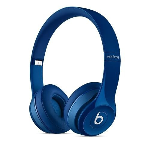 Beats by Dre Blue Solo2 Wireless On-Ear Headphones