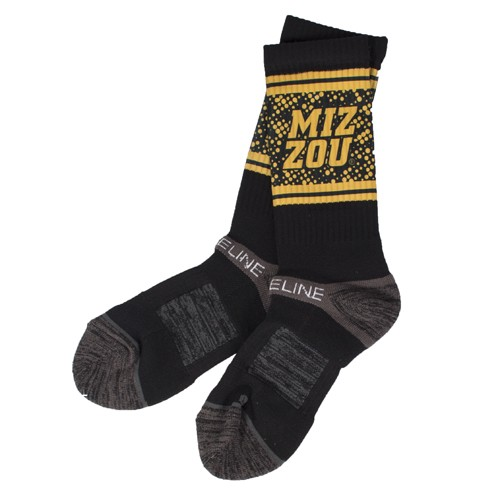 Mizzou Black & Gold Socks
