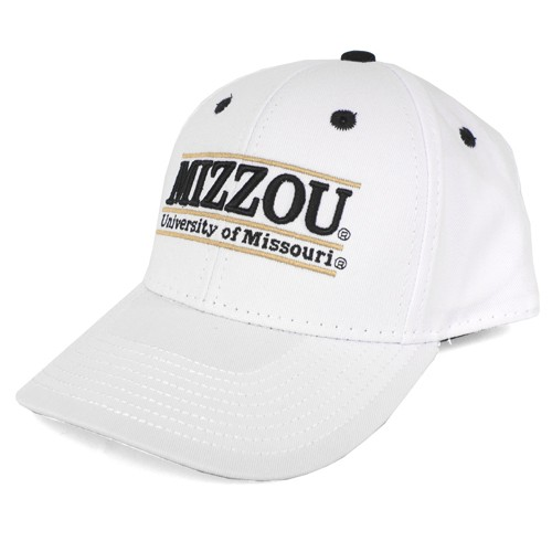 Mizzou White Adjustable Hat