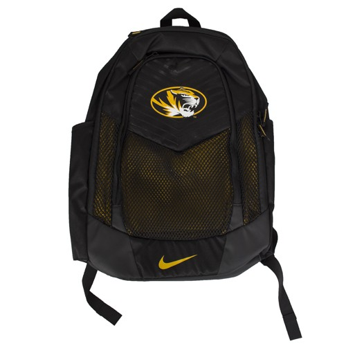 Mizzou Nike&reg Oval Tiger Head Black Backpack