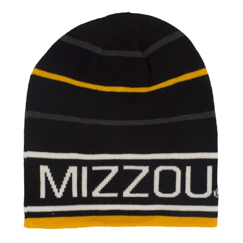 Mizzou Black & Gold Striped Beanie