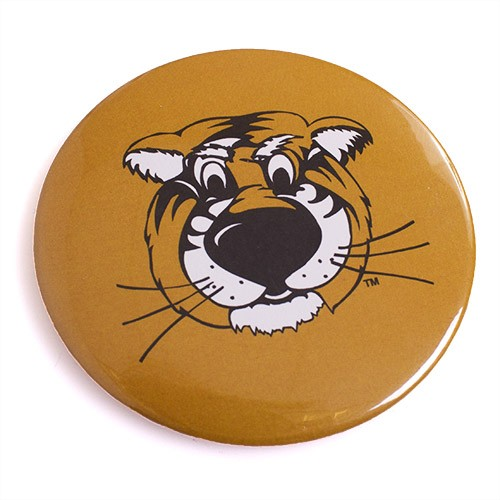 "Mizzou Truman Black & Gold 3"" Button Magnet"