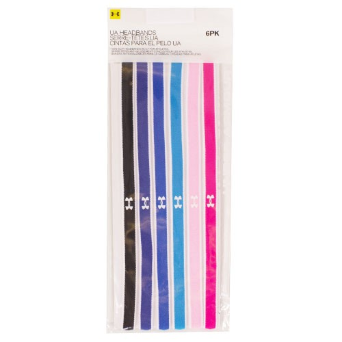 Under Armour Assorted Colors Headbands Pack of 6