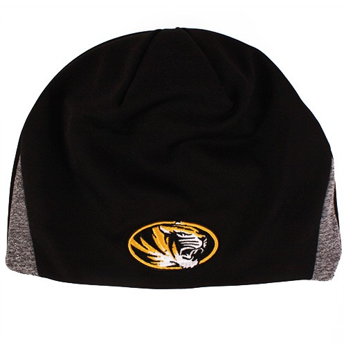 Mizzou Tiger Head Black & Grey Beanie
