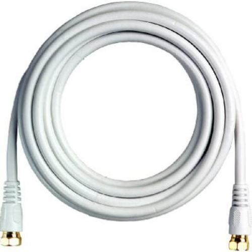 "RCA 12-Ft. White RG6 Coaxial Cable With ""F"" Connectors"