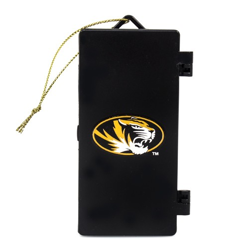 Mizzou Oval Tiger Head Football Locker Ornament