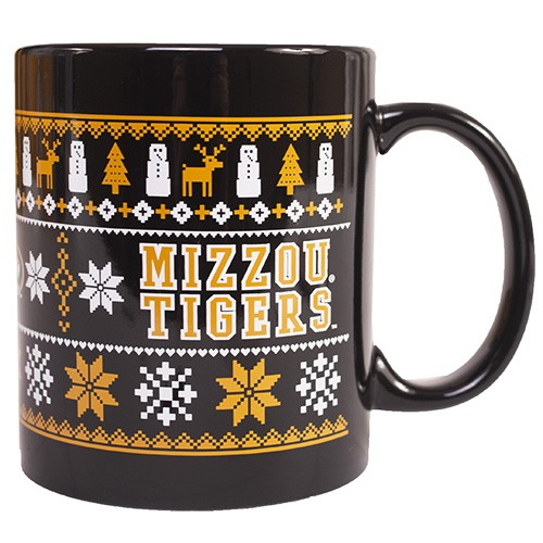 Mizzou Tigers Holiday Black Mug