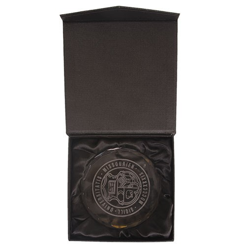University of Missouri Official Seal Crystal Paper Weight