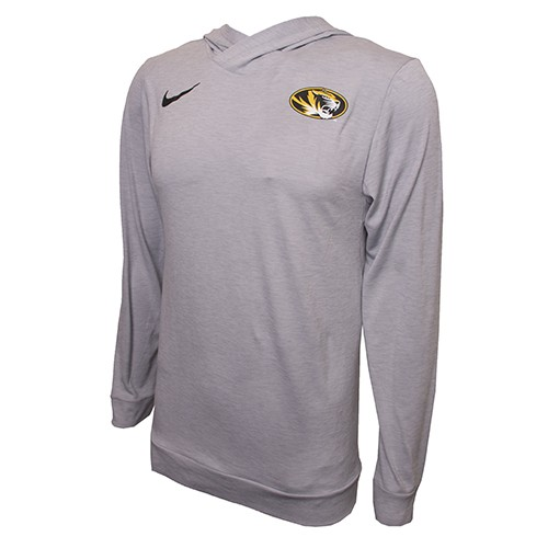 Mizzou Nike&reg 2017 Dri-Fit Grey Hooded Shirt