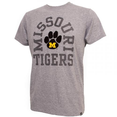 Missouri Tigers Paw Print Grey Crew Neck T-Shirt