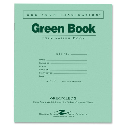 Roaring Spring Paper Products Exam Book