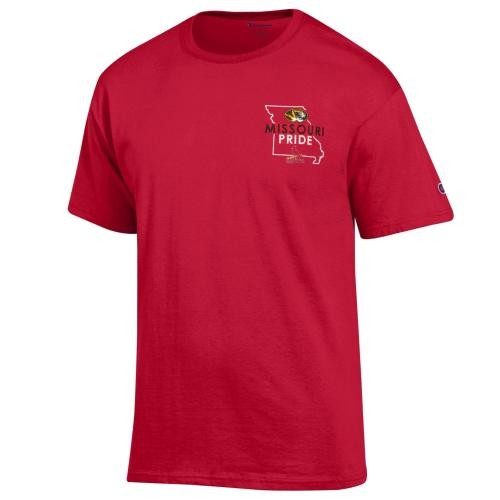 Missouri Pride MLB St. Louis Cardinals Red Crew Neck T-Shirt