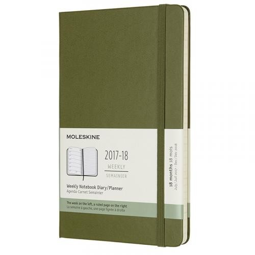 Moleskine Black Large Hard Cover 2017-2018 18 Month Weekly Planner (5 x 8.25)