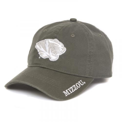 Mizzou Juniors' Olive Green Adjustable Hat