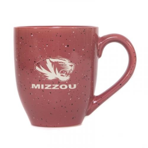 Mizzou Tiger Head Pink Speckled Ceramic Mug