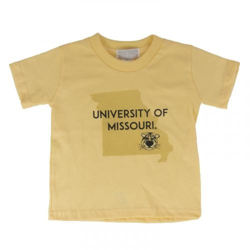 University of Missouri Toddler Yellow Crew Neck T-Shirt