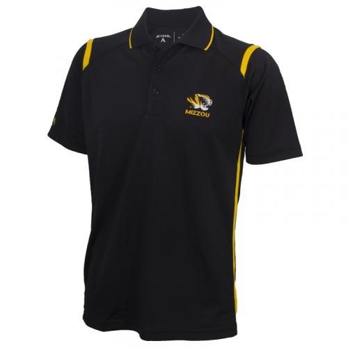 Mizzou Antigua Black & Gold Polo