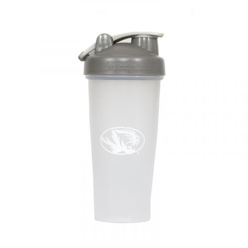 Mizzou Oval Tiger Head BlenderBottle&reg with Grey Lid
