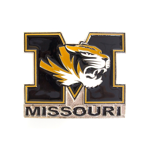 Missouri Tiger Head Metallic Hitch Cover
