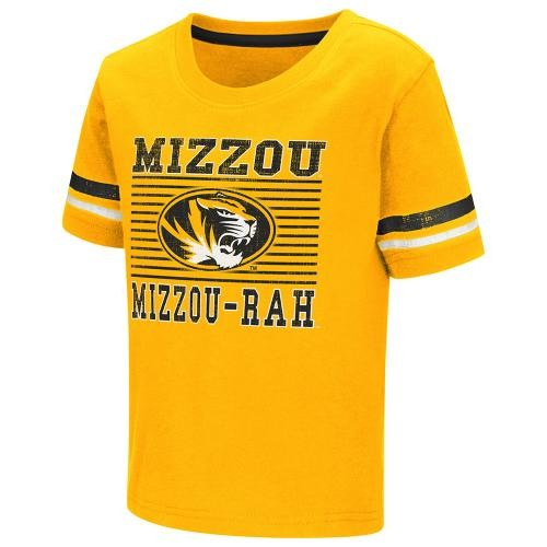 Mizzou-Rah Toddler Gold Crew Neck T-Shirt