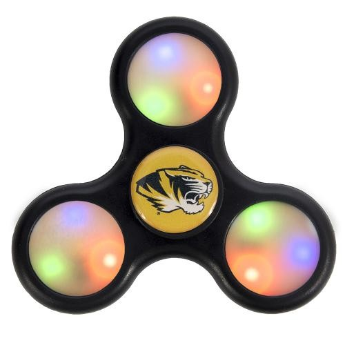 Mizzou Oval Tiger Head LED Fidget Spinner