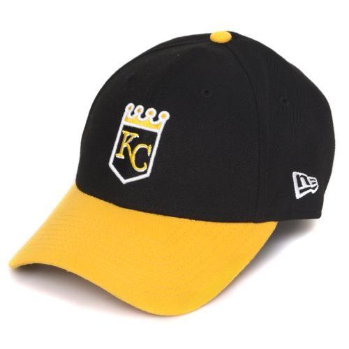 Mizzou Official MLB Kansas City Royals Black   Gold Velcro Adjustable Hat 0da239cdb0a