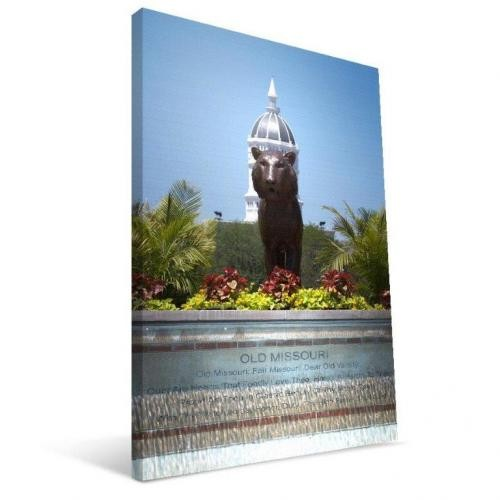Mizzou Old Missouri Fountain Canvas Print
