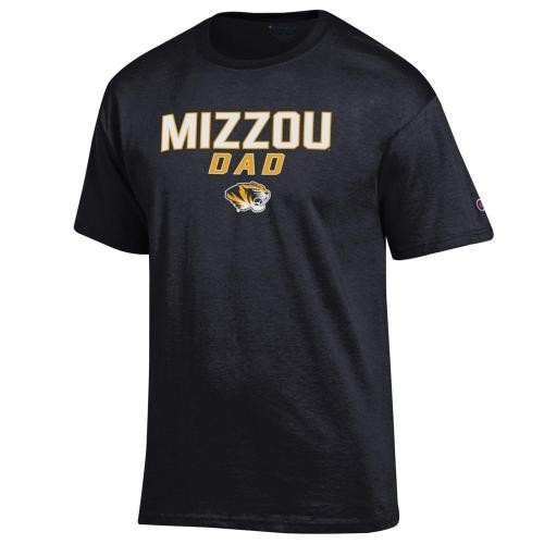 Mizzou Dad Black Crew Neck T-Shirt