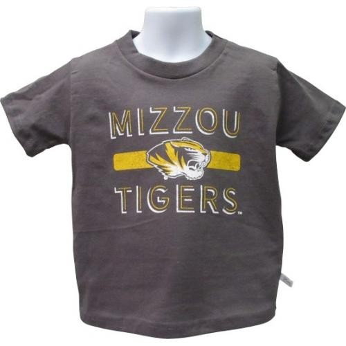 Mizzou Tigers Toddler Charcoal Crew Neck T-Shirt