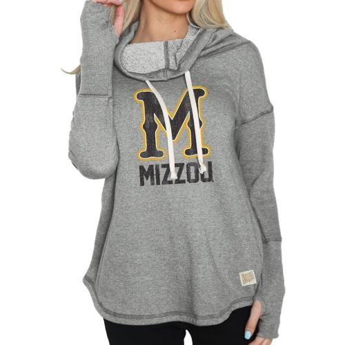Mizzou Juniors' Classic Collection Grey Funnel Neck Sweatshirt